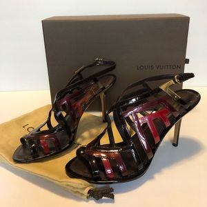 Louis Vuitton Shoes, Patent Leather Strappy Sandal